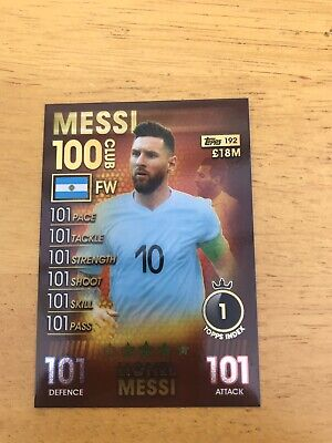 Match Attax 101 2019 Messi 100 Club Limited Edition Legends