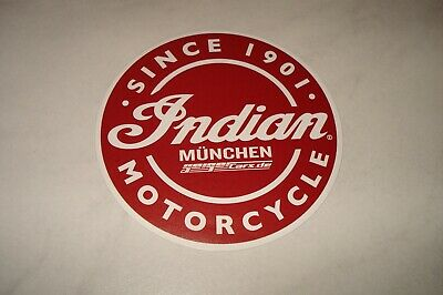 Geiger Cars München : INDIAN MOTORCYCLE  Aufkleber Rot