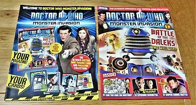 Dr Who Monster Invasion Collectable Trading Cards Magazine - Issue 1 & Cardguide