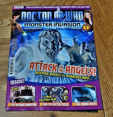 Dr Who Monster Invasion Collectable Trading Cards Magazine - Issue 3