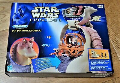 Star Wars Hasbro Galoob 1999 Micro Machines - Jar Jar Binks Naboo  Boxed Set