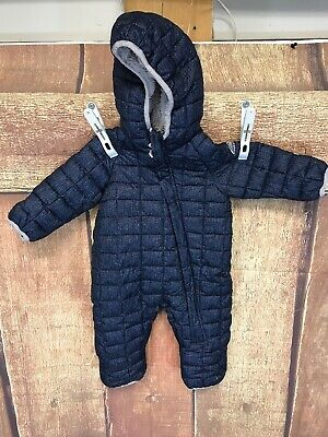 Snozu Boys Snowsuit Winter Coat Hooded Plush Blue Lime Green 3//6 mo