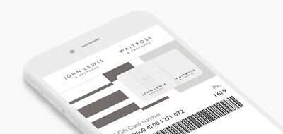 John Lewis Waitrose E-Gift / Voucher not actual physical card  £ 332