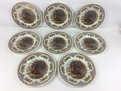 """8 New Royal Stafford The Victorian English Pottery Turkey Dinner Plates 11"""""""