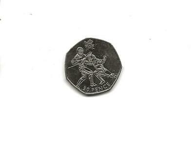 "2011 London 2012 Olympic Games, Fifty Pence 50p Coin - ""Fencing"" - Circulated"