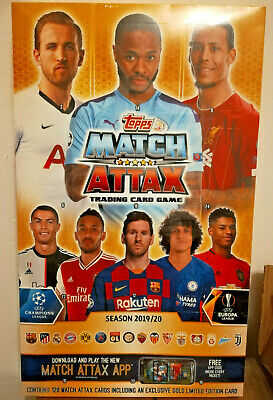 NEW Topps Match Attax UCL 2019/20 Countdown Advent Calendar inc Gold Limited Ed