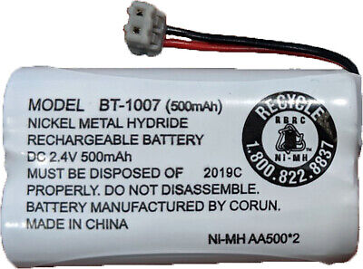NEW! Uniden BT-1007 BBTY0651101 500mAh 2.4V Rechargeable Phone Battery (1-Pack)