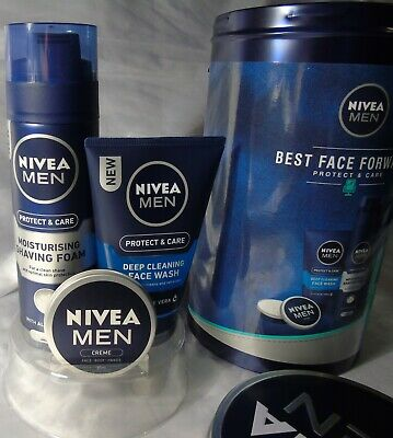Nivea Men Best Face Forward 3 Pieces Protect & Care Gift Tin Pack