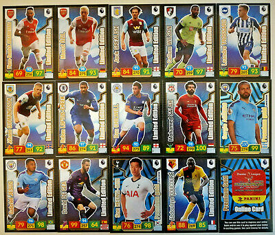 Panini Premier League Adrenalyn Xl 2019/20 Limited Editions