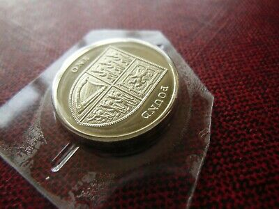 VERY RARE : BU : 2015 Shield of Arms £1 One Pound Coin : Brilliant Uncirculated