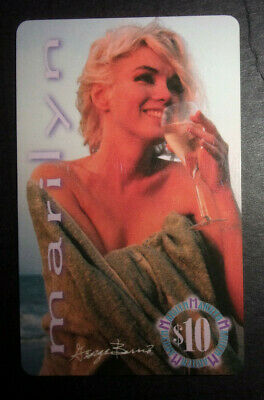 Marilyn Monroe phone card $10 Gem International  ID#2075