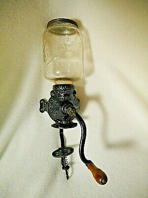 Antique Crystal Arcade Coffee Grinder # 3-ALL Original Parts-ARCADE CRYSTAL # 3