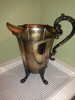 Antique Eton Sheffield Silver-Plate over Copper, Footed Pitcher, Quart size