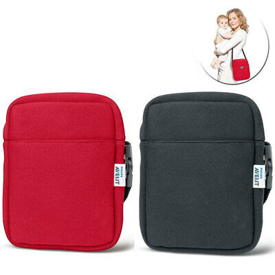 2pc Avent Neoprene ThermaBag Baby Warmer Bottle Insulated Thermo Bag Black Red