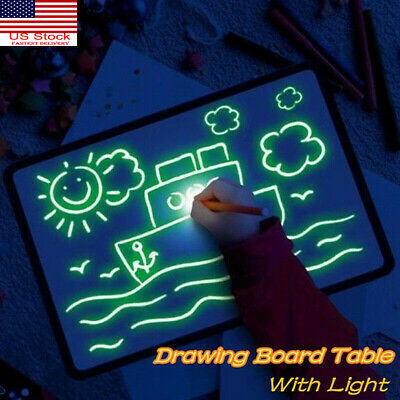 Draw With Light Fun Developing Kid Toy Drawing Board Magic Draw Educational Gift