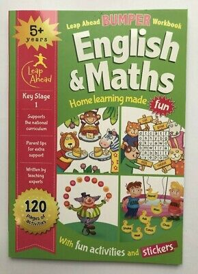 Leap Ahead Bumper Workbook English & Maths Home Learning Age 5+ Years New KS1