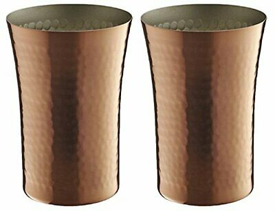 Made in Japan Beer tumbler 300ml Bamboo designs pure copper Set of 2 F/S