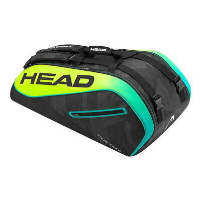 "Head Extreme 9R Supercombi 31"" Shoulder Bag For 9 Tennis Racket/Racquets BLK/YEL"