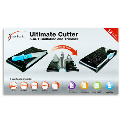 Jastek Ultimate A4 Paper Cutter Guillotine Straight Perforate Corner Trimmer
