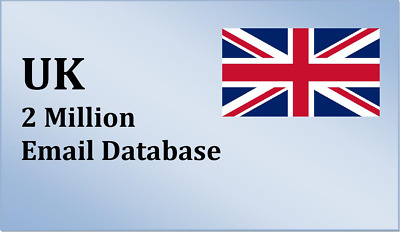 2 Million UK Email List for Marketing and Business - UK Targeted Email Database