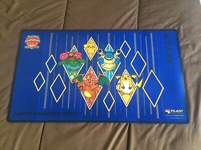 Tapis Playmat STAFF Pokémon International Championship Latin America LATAM 2017
