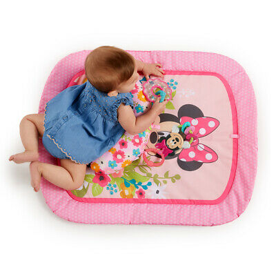 Bright Starts 0m+ Baby/Infant Toys Minnie Mouse Garden Party Tummy Prop Play Mat