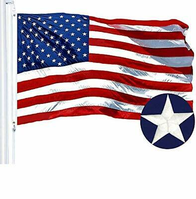 G128 American Flag 8x12 ft USA US Flag Embroidered Stars Sewn Stripes Brass Grom