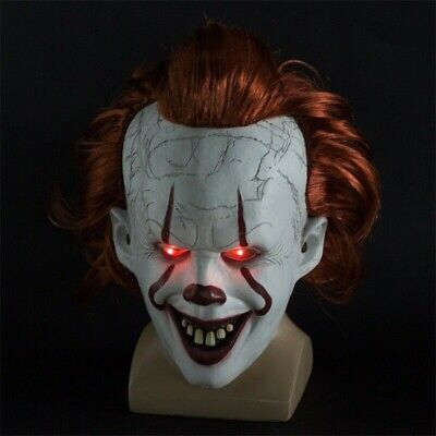 Stephen King's It Chapter Two Joker Pennywise Clown Cosplay Mask Halloween Prop.