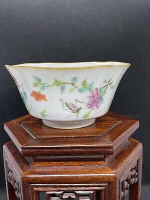 Very Fine Very White Antique Chinese Tongzhi Famille Rose Bowl