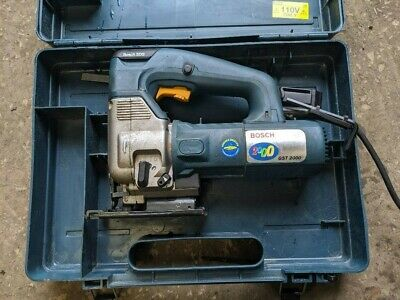 Electric Jigsaw 110V Bosch Gst 2000 Professional 5.5A With Carry Case