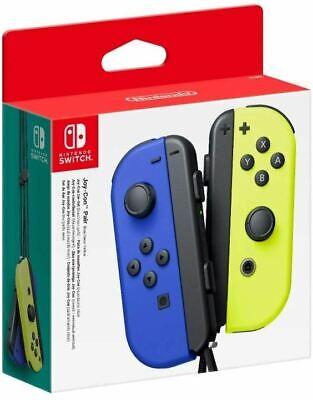 Nintendo Switch Joy-Con Pair Neon Blue & Yellow Brand New Sealed Official