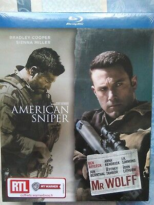 Coffret American Snipper + Mr Wolff , 2 blu-ray neuf sous blister