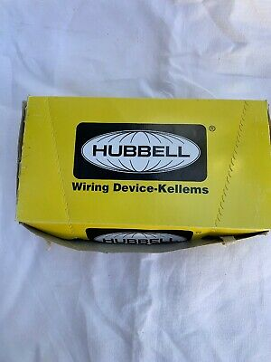 Hubbell Br20Whi 20 Amp White Duplex Receptacle Nema 5-20R 120V Back & Side Wired