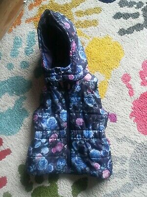 Girls Gilet Bodywarmer Age 3-4 Years h&m excellent with  detachable hood