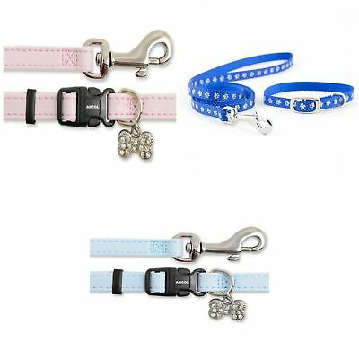 """Red pink green blue   /""""Noddy /& Friends  /""""  chihuahua dog puppy collar /& or lead"""