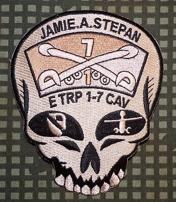 US Army E Troop, 1st Squadron, 7th Cavalry Regiment Desert Subdued Patch