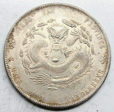 China Provincia Kiangnan 1904 1 Dollar Moneda Plata Mbc+