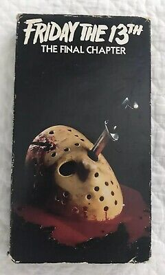 Friday The 13th The Final Chapter Part 4 VHS Movie Horror Cult Classic *untested
