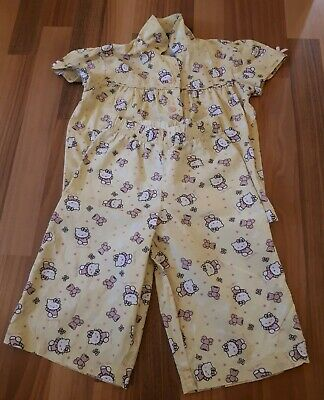 Girls George - Asda Hello Kitty Pyjamas, Yellow PJ's Set, 3-4 Years Nightwear.