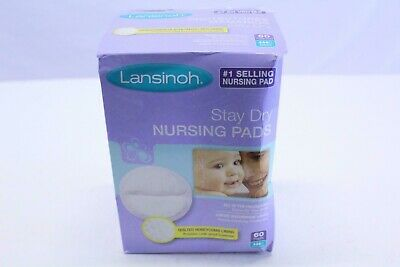 Lansinoh Stay Dry Disposable Nursing Pads Quilted Medium 60 Count Box