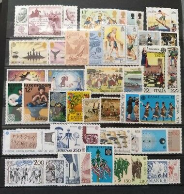EUROPA CEPT MNH Stamps 25 DIFFERENT FULL sets from 25 DIFFERENT countries + GIFT