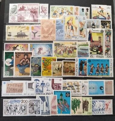 EUROPA CEPT MNH Stamps 30 DIFFERENT FULL sets from 30 DIFFERENT countries + GIFT