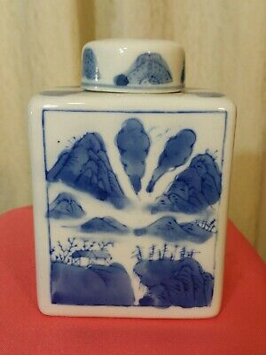 Antique Chinese Signed  Porcelain  Jar or  Box handmade excellent condition.