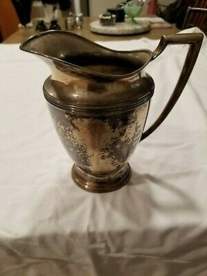 Vintage WM Rogers WINDSOR Spring Flower Silver Water Pitcher Pattern #3717