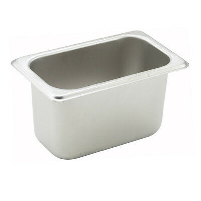 Winco SPN4, 4-Inch Deep One-Ninth Size Steam Table Pan, NSF