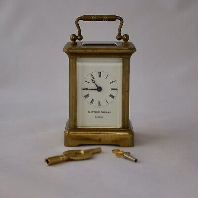 Matthew Norman 8 Day Timepiece Corniche Miniature Carriage Clock