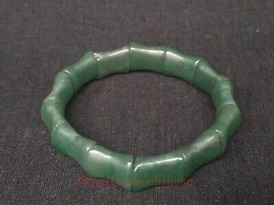Collecting Ancient Chinese Natural Green Jade Carving Beautiful Hand Catenary