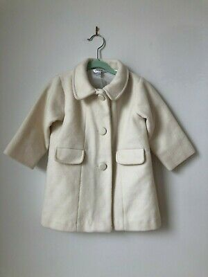 BEBE BY MINIHAHA Ivory Wool Coat Girls Size 1 Years