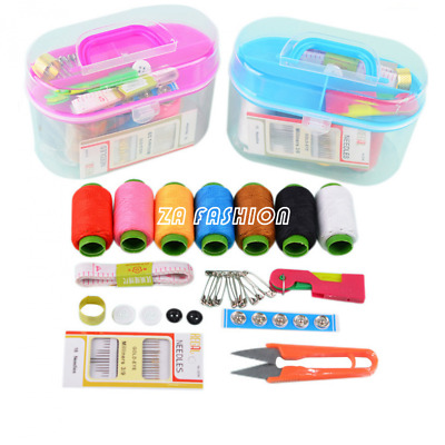Useful Needle Scissor Sewing Set Box Sewing Kit Household Tool Home Essential