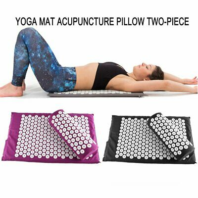 Acupressure Massage Mat with Pillow for Stress/Pain/Tension Relief Body - NEW